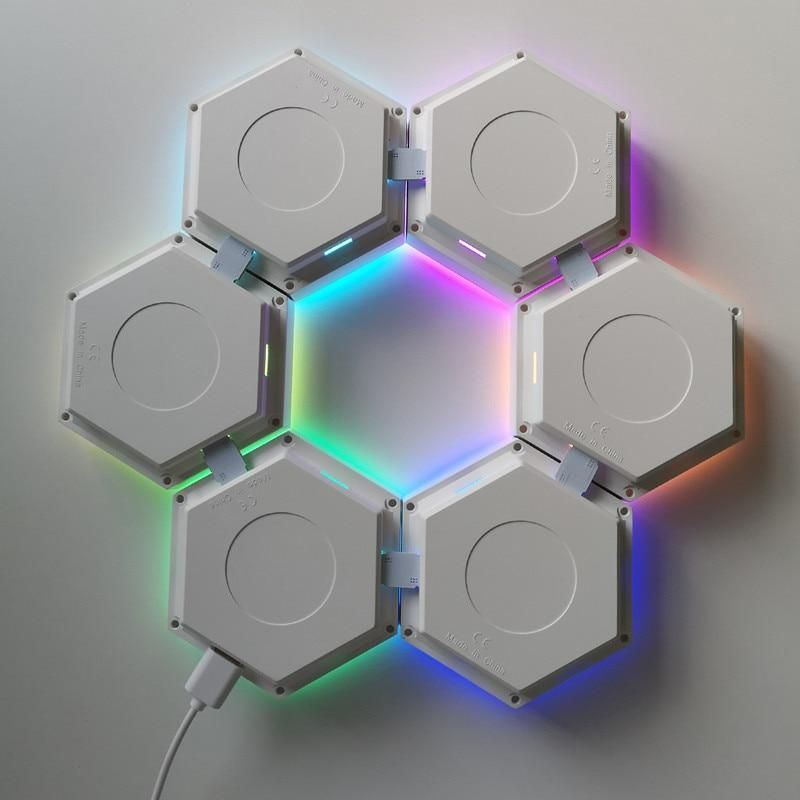 Second Generation Quantum Lamp Led Modular Touch Sensitive Lighting Hexagonal Led Panel Ligh In 2020 Led Panel Light Led Panel Led