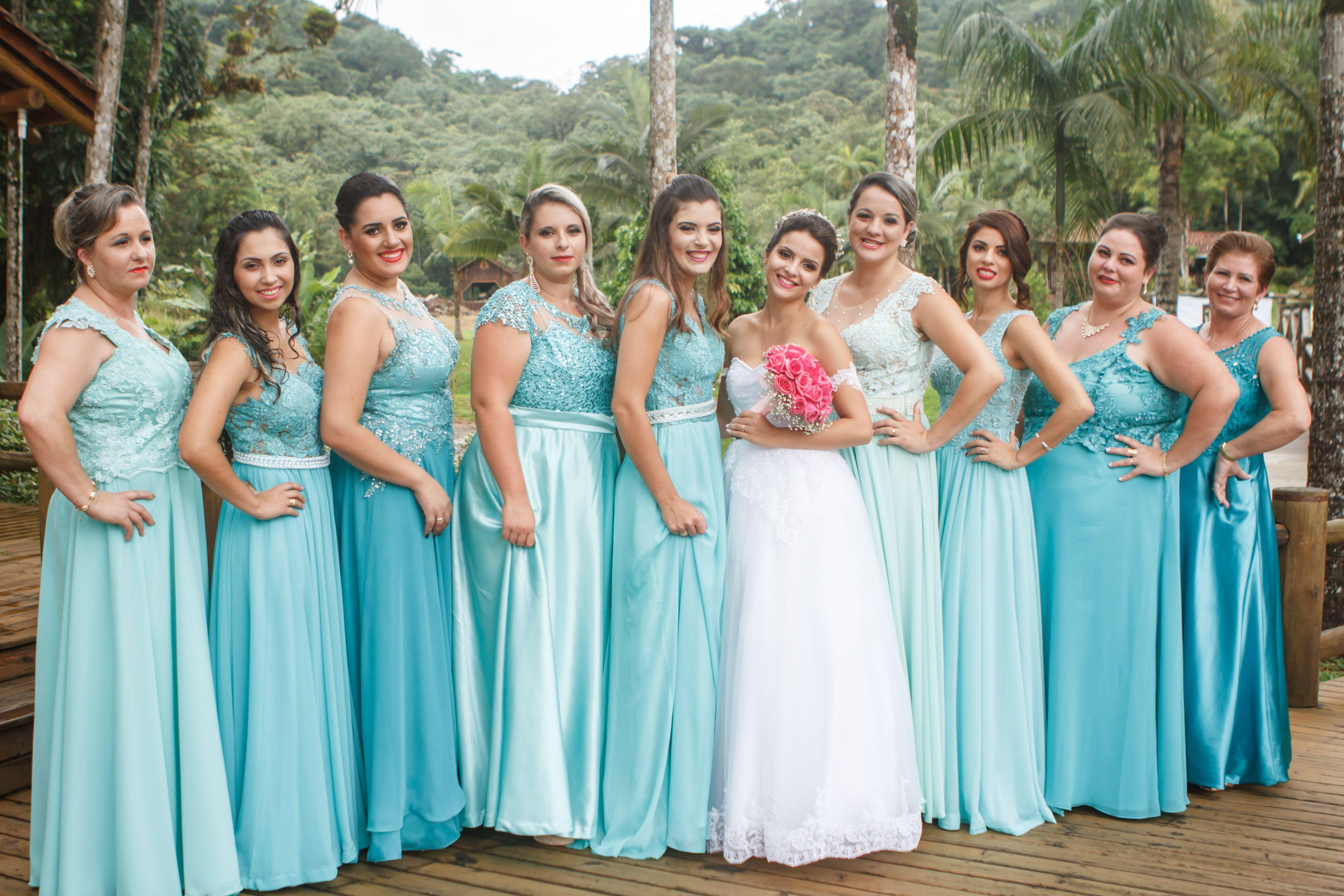 Bridesmaids - Azul tiffany- Casamento de dia | Madrinhas | Pinterest ...