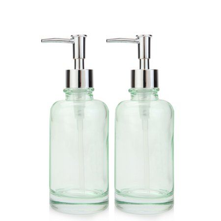Home Lotion Soap Green Glass Bottles
