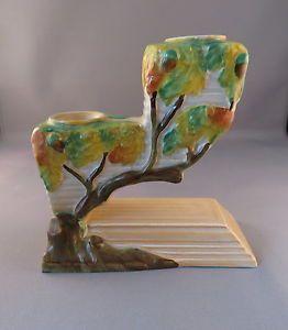 Rare-Carlton-Ware-Oak-Tree-Double-Candlestick