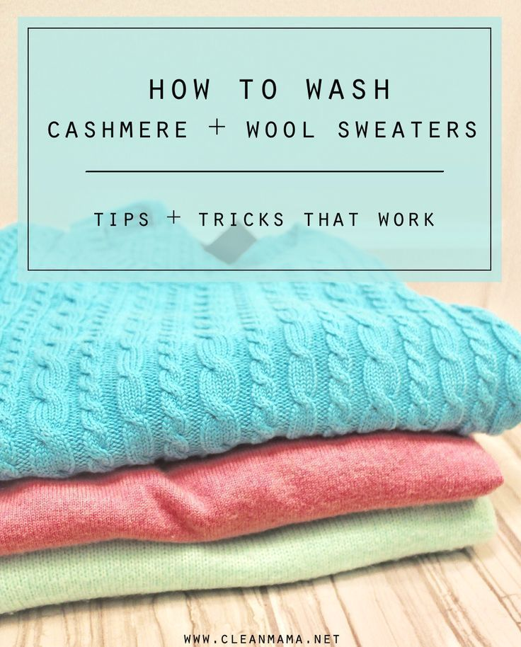 How to Wash Cashmere + Wool Sweaters Cleaning hacks