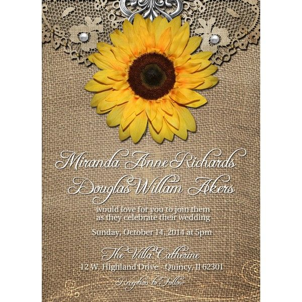 17 Best images about Garden Party invitations – Sunflower Wedding Invites