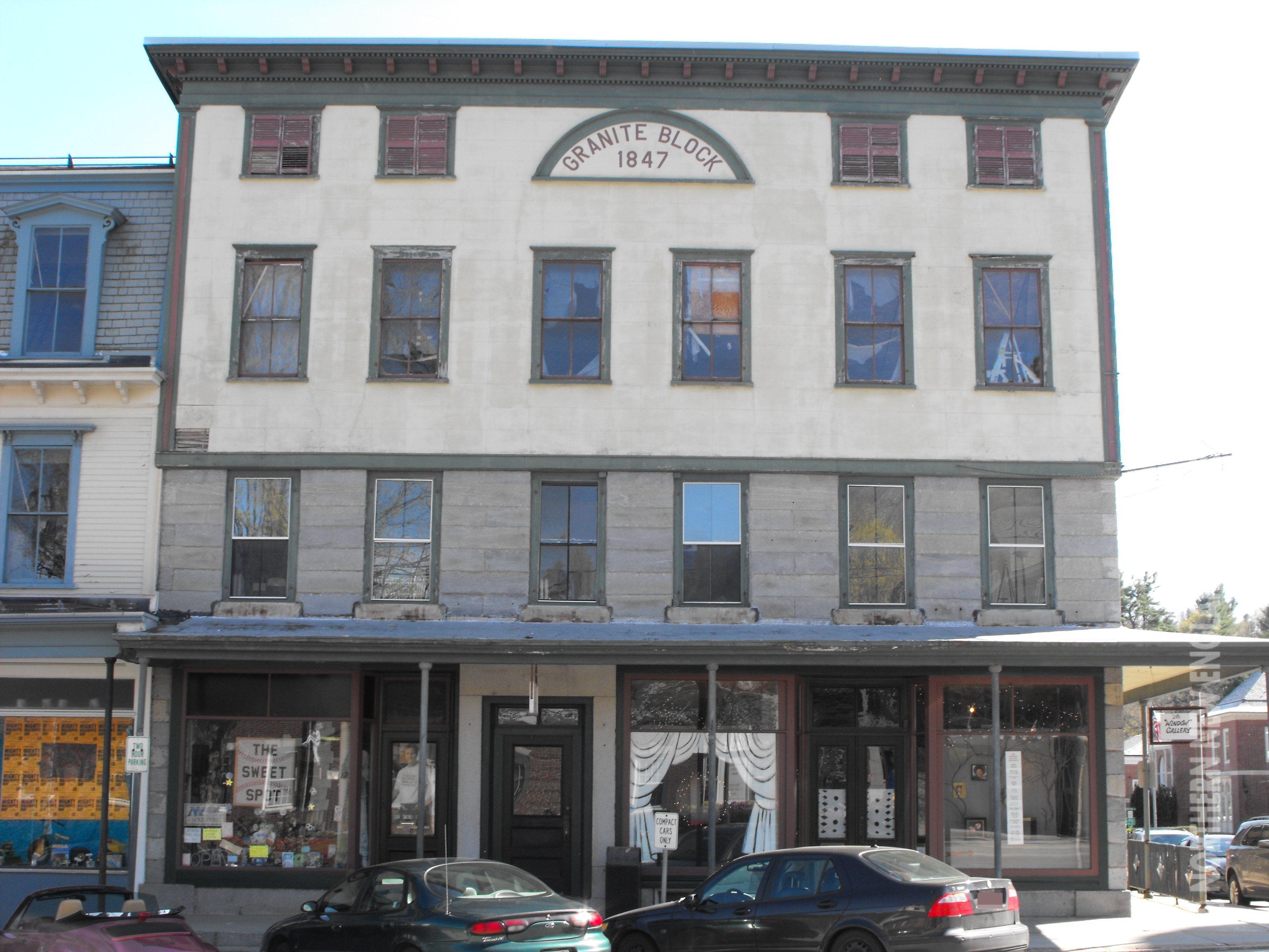 Granite Block 1847 In Peterborough New Hampshire New Hampshire New Town Peterborough