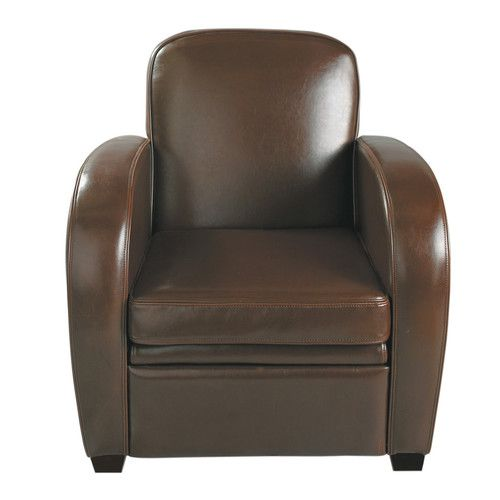 fauteuil club en cuir chocolat fauteuil club fauteuils. Black Bedroom Furniture Sets. Home Design Ideas