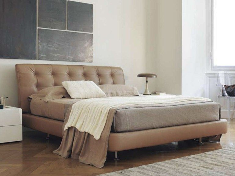 Feg mobili ~ Leather double bed morfeo by feg mobili design luigi vaghi ilaria