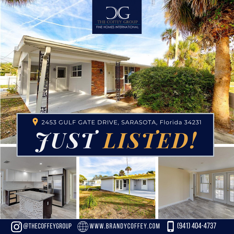 🏠JUST LISTED! This home is move in ready with new paint, new flooring throughout, a brand new kitchen, & updated bathrooms.  📞(941) 404-4737 I 📧Brandycoffey941@gmail.com 🔎View Our Featured Listings at www.brandycoffey.com  #sarasotaflorida #FloridaRealEstate #SellingSarasota #JustListed #sarasotafl #florida #sarasota #floridaliving #sarasotarealestate #luxuryliving #luxuryrealtor #househunting #househunters #luxurylifestyle #movetoflorida #luxuryagents #architecture #house #sale #Tuesday