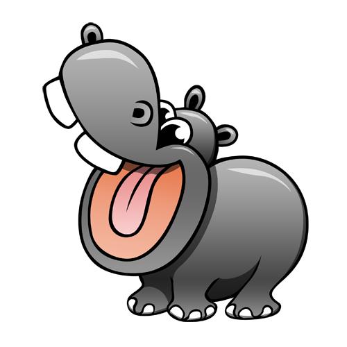 Gallery For Hippo Cartoon Hipopotamos Dibujo Animales Terrestres Hipopotamo