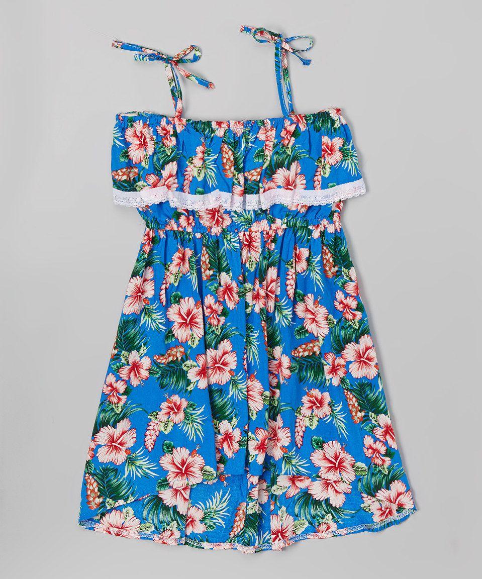 Blue floral maxi dress toddler u girls by z kids zulily