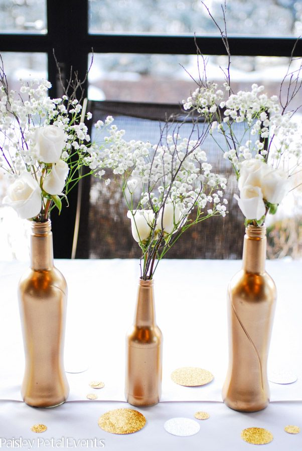 50th wedding anniversary flower centerpieces partys Pinterest