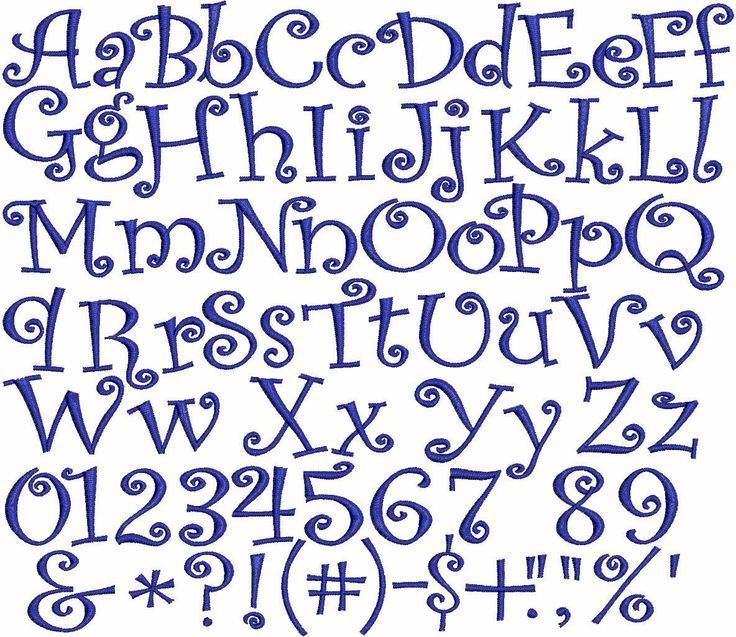 Girly Alphabet Fonts