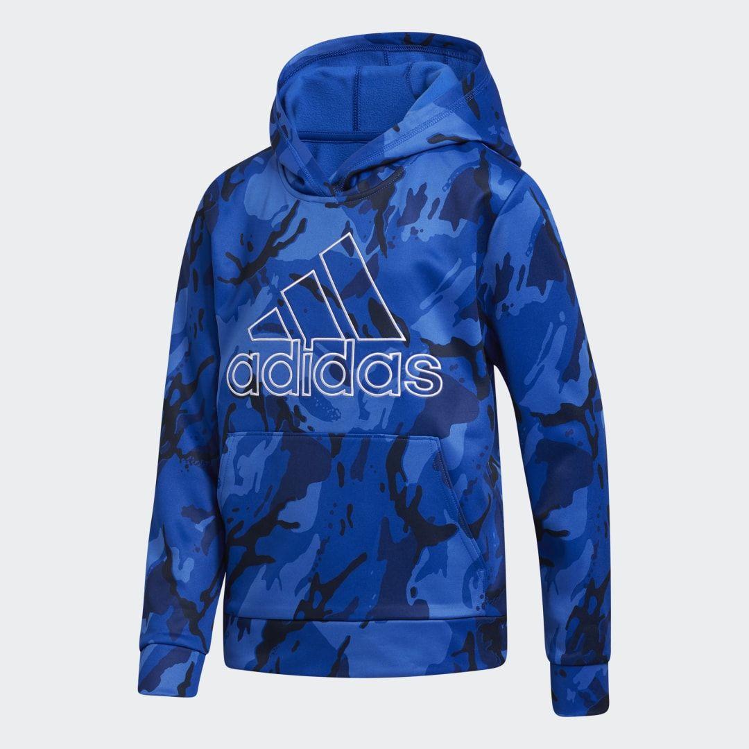 Adidas Core Camo Hooded Pullover Blue Adidas Us Hooded Pullover Camo Sweatshirt Boy Activewear [ 1080 x 1080 Pixel ]