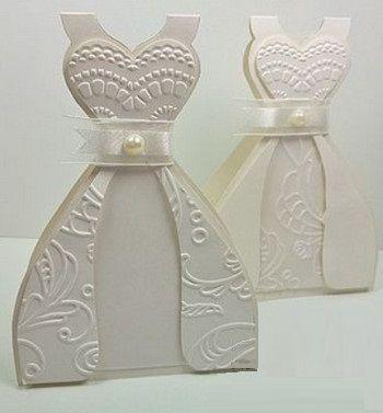 Свадебная открытка своими руками платье
