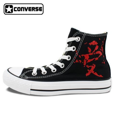 a7bcda197171 Converse Chuck Taylor Man Woman Shoes Anime Naruto Shippuuden Gaara Love  Design Hand Painted Shoes High Top Boys Girls Sneakers