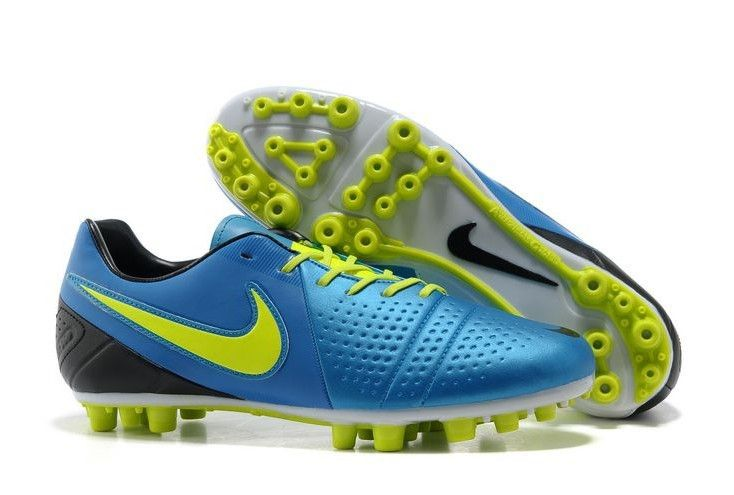 Nike CTR360 Libretto II AG Mens Artificial Grass Soccer Cleats(Bright Blue  Black Electricity)