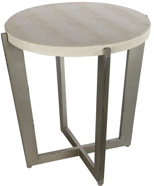 Wade Logan Mae End Table End Tables Metal End Tables Round