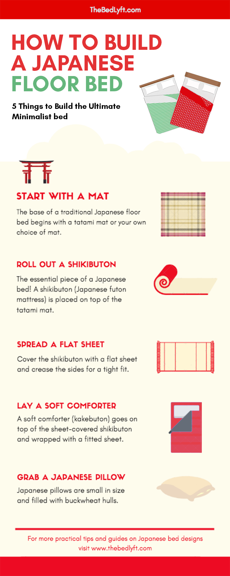 How To Make A Japanese Futon Bed All You Need Are 5 Steps And Items A Shikibuton Tatami Mat Bed Sh Japanese Futon Japanese Futon Bed Japanese Style Bedroom