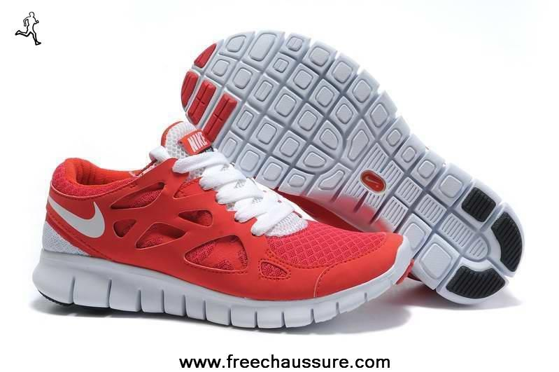 100% authentic 4f3be 1d205 femmes rouge blanc nike free run 2 443815-122 sports chaussures magasin