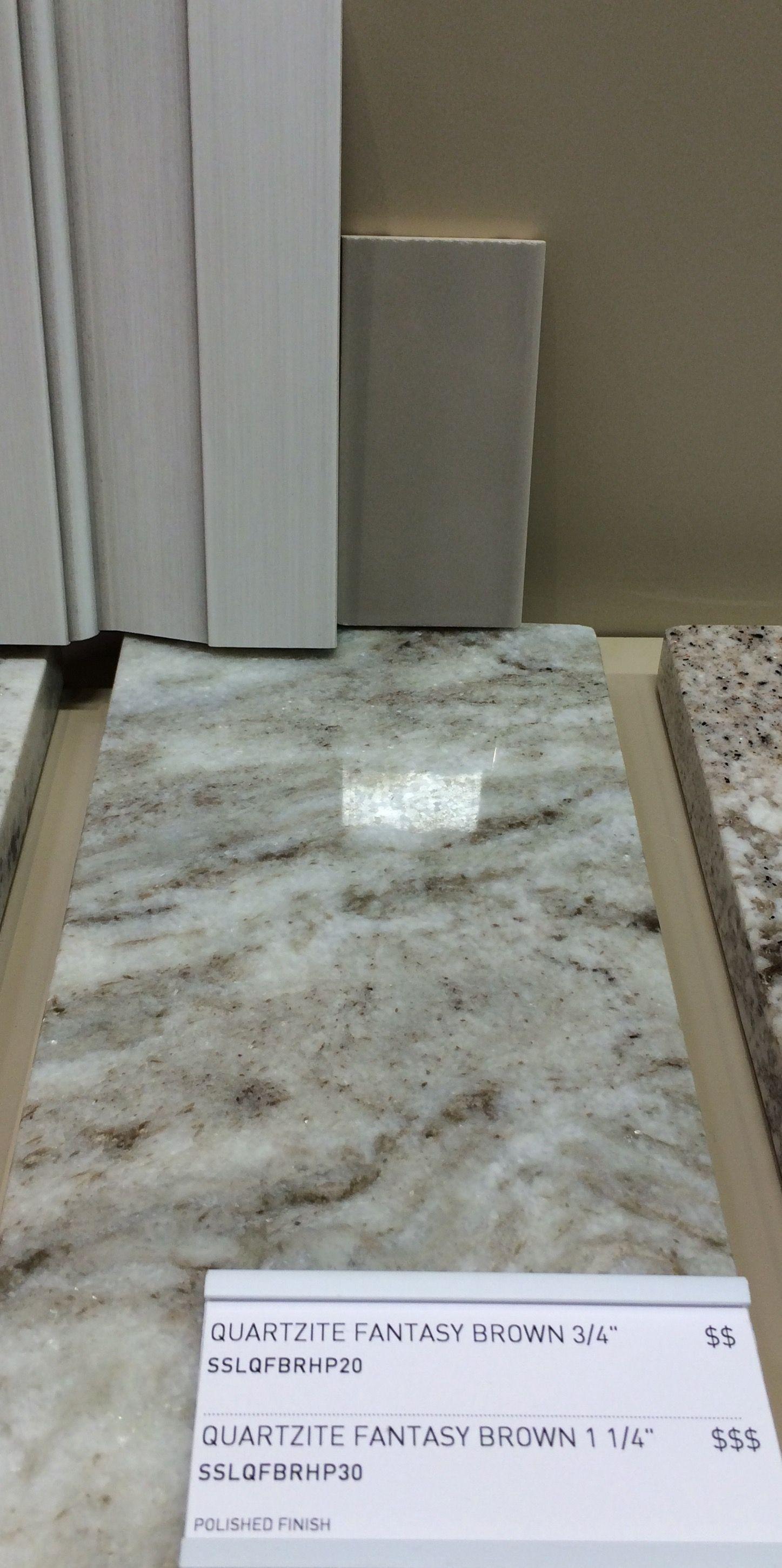 Fantasy Brown Granite with Plank 16 deep clay backsplash