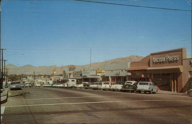 19501960 era photo of Victorville, Ca. Possibly downtown