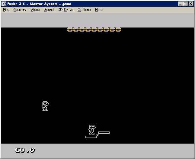 SeeSaw is a rom written for the Sega Master System. The object of this game is to catch each players fall on a seesaw or (teater tauter) to rack up points.Game playable through:KEGA (sega emulator). get it here: http://segaretro.org/Kega_Fusion