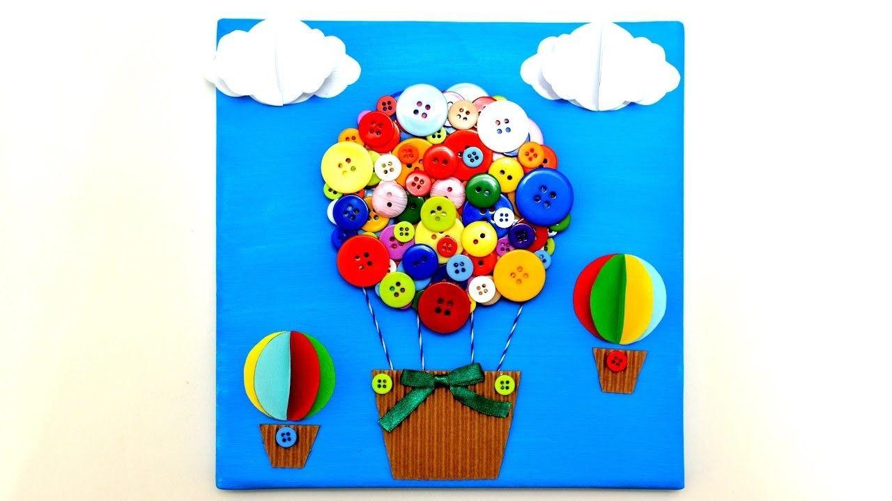 Air Balloon 3d Canvas Art Craft Diy Handmade Wall Room Decor Gifts Ideas Tutorial Maker Life Hacks Diy And Crafts Sewing Diy Handmade Diy Crafts