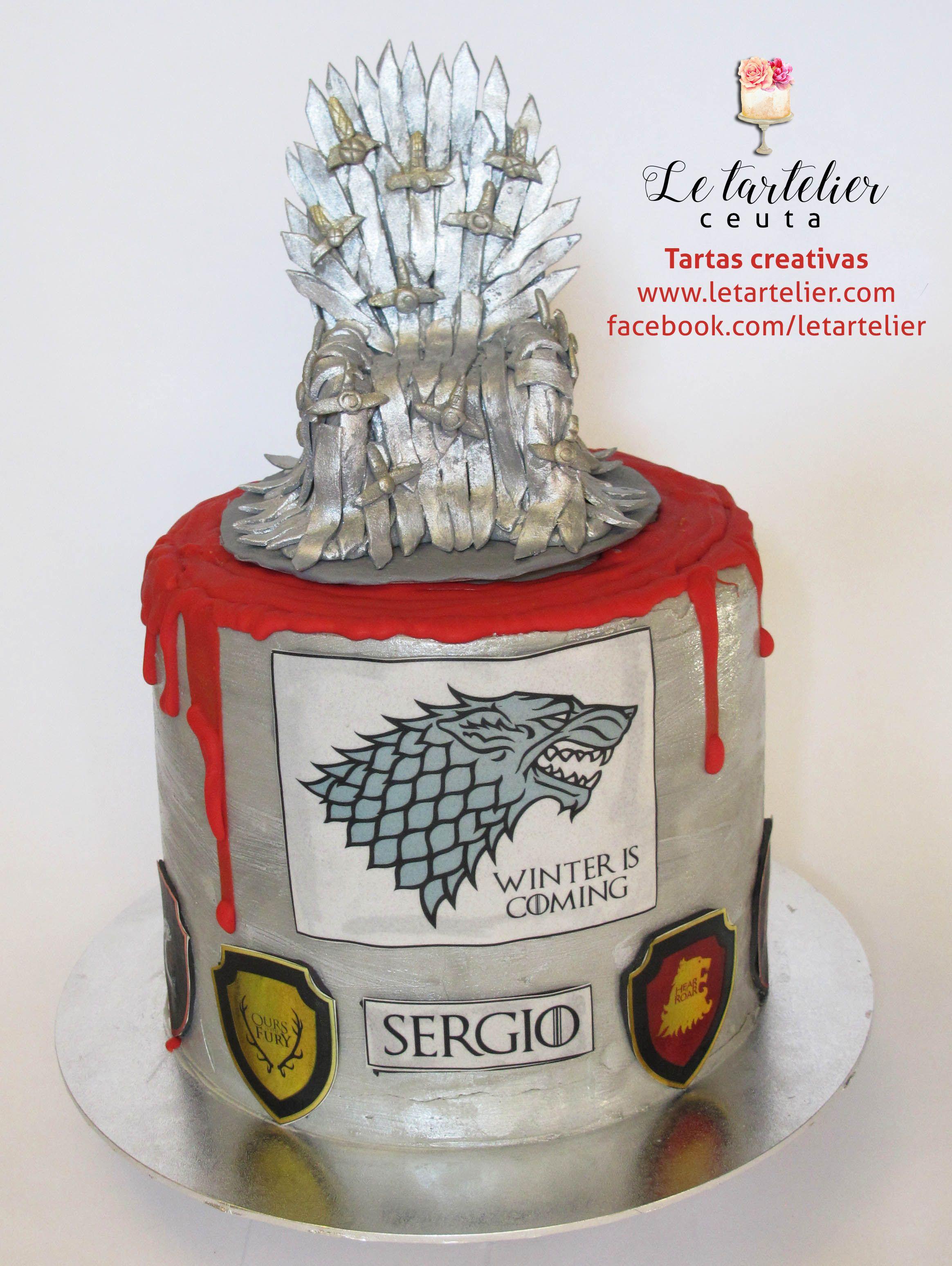 """Tarta temática """"juego de tronos"""". Le tartelier, tartas creativas en #Ceuta."""
