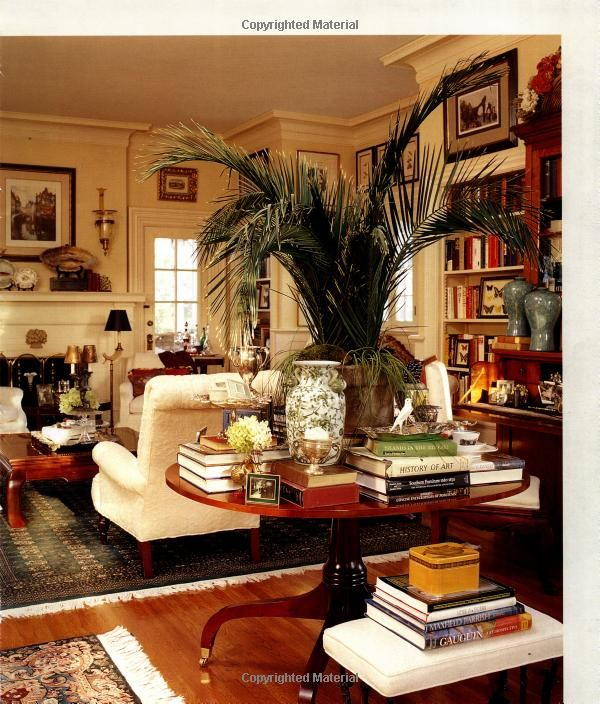 Traditional English Country Sitting Room: Always Reminds Me That Clutter Can Look