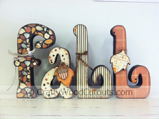 New fall and owls wood craft projects wood cutouts utah and crafty fall letters wood craft project home decor crafty wood cutouts in orem utah sciox Images