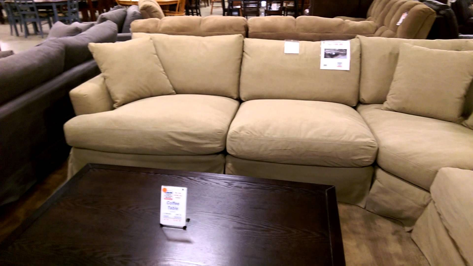 Deep Sectional Slipcovered Sarah Randolph Sofa