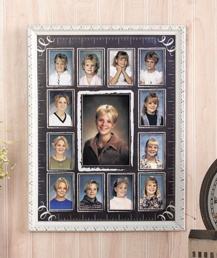 School Years Photo Collage Frame Elegant Display Memories For 12 ...