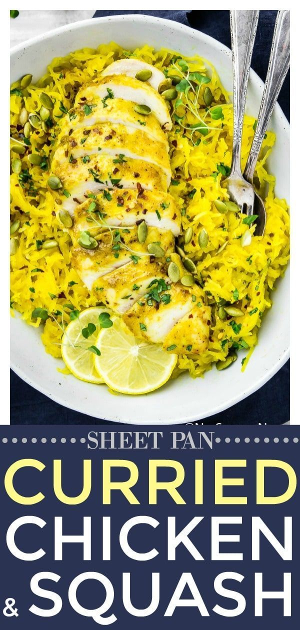 Baked Curried Chicken & Spaghetti Squash