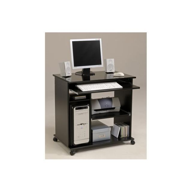 bureau d ordinateur pop noir brillant