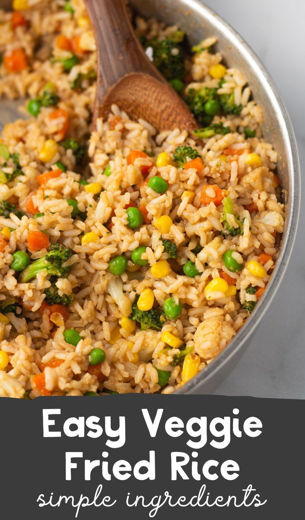 Easy Vegetable Fried Rice Karissa S Vegan Kitchen Recipe In 2020 Vegan Dinner Recipes Rice Recipes Vegan Veggie Fried Rice