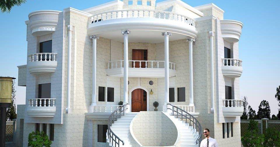 الديكورات الخارجية للفلل والقصور التي تضم العديد من الأفكار الهندسية والتصاميم المعمارية بتصميمات ا Modern Style House Plans Classic House Design Classic House