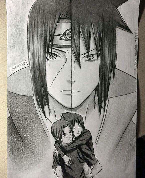 Itachi And Sasuke Hand Drawing By Arteyata Minato Naruto Cosplay