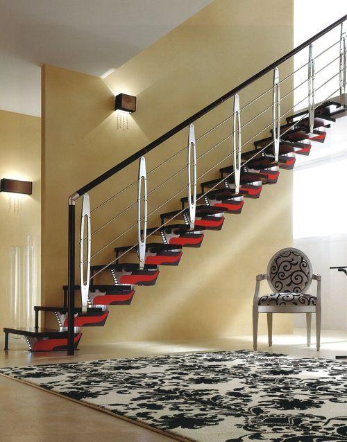 Escalera moderna escaleras metalicas casas casas - Fotos de escaleras modernas ...