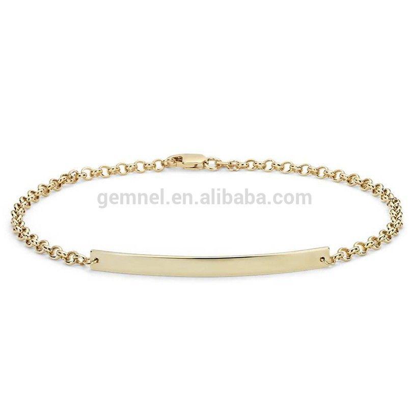 Wholesale engravable jewelry blank bar customizable bracelet