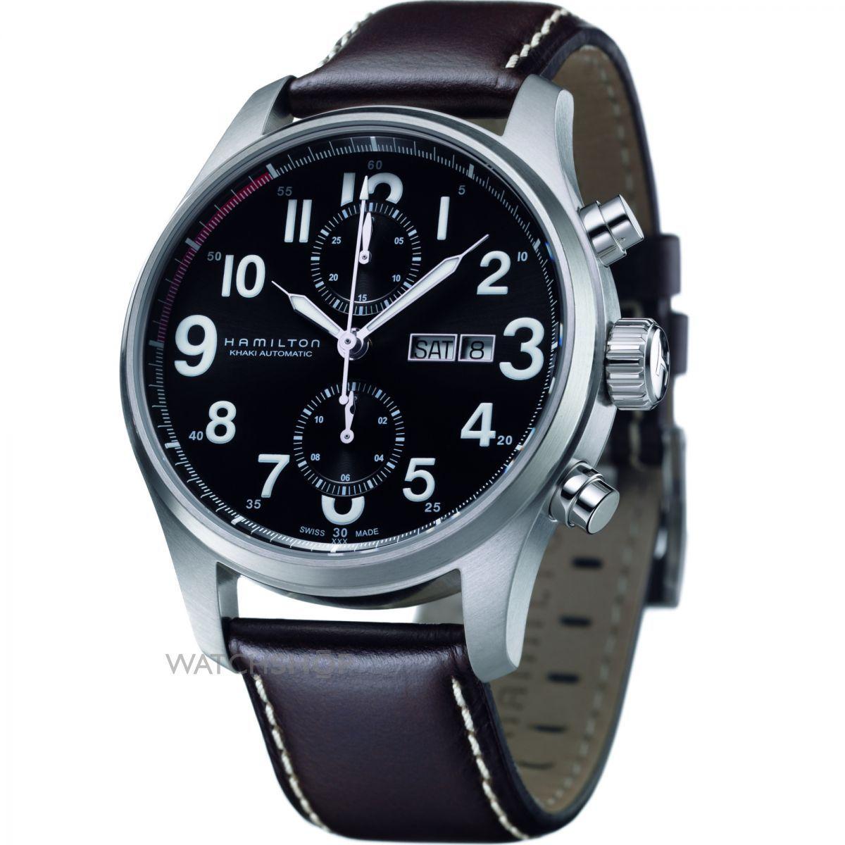 d641ea94a hamilton watches   Hamilton Khaki Officer Automatic Chronograph Watch  (H71716533) - WATCH .