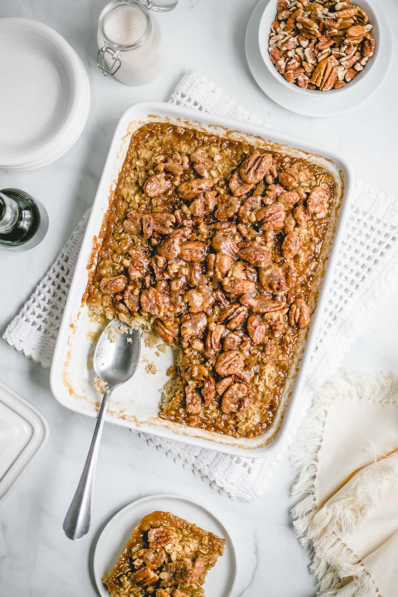 Pecan Pie Baked Oatmeal - Andie Mitchell