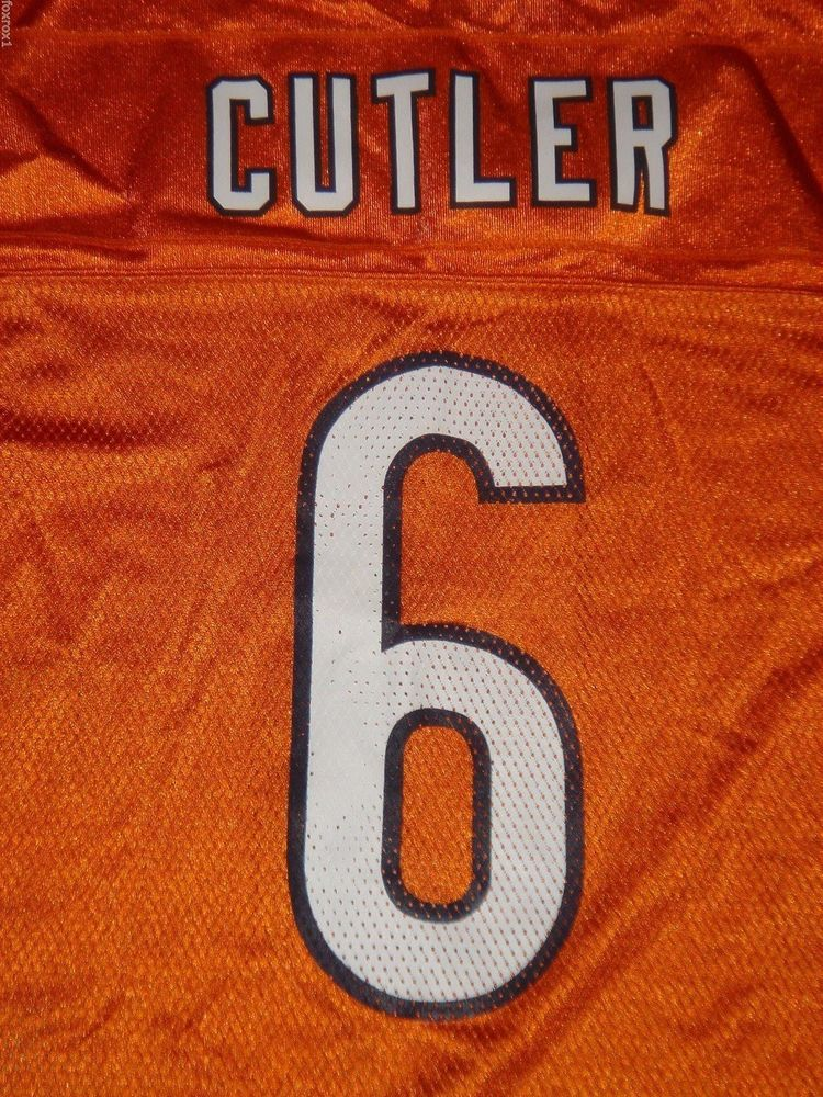 brand new 94f22 b955a Chicago Bears Jersey 6 Jay CUTLER Orange NFL Authentic ...