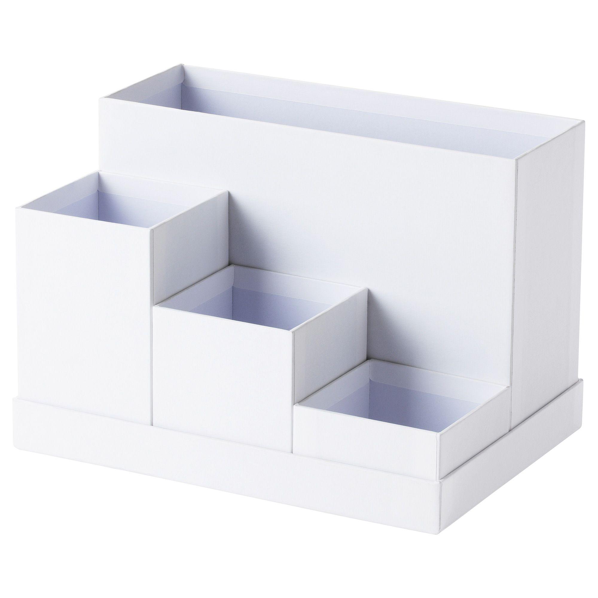 Tjena Desk Organizer White 7x6 Ikea Desk Organization Diy Desk Organization Desk Organization Ikea