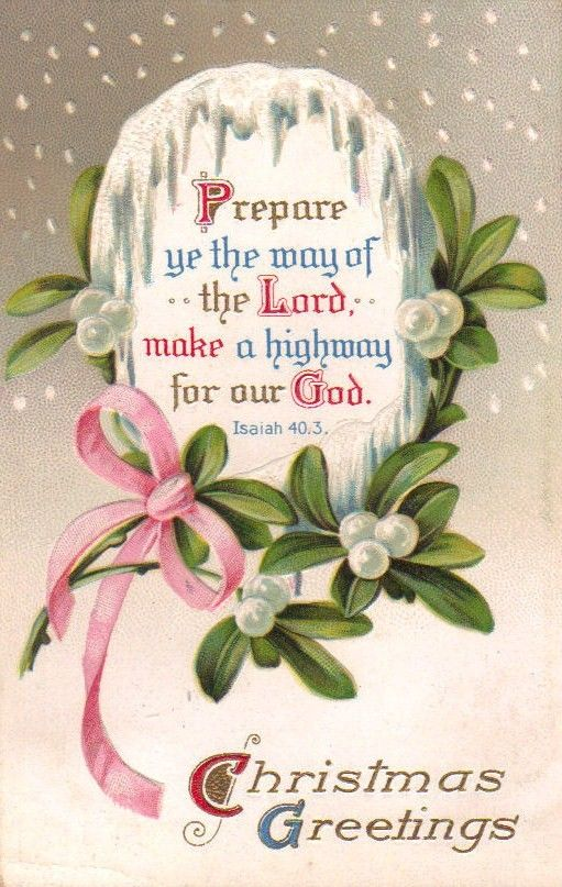 {Prepare}    Prepare ye the way of the Lord, make a highway for our God.  Isaiah 40:3