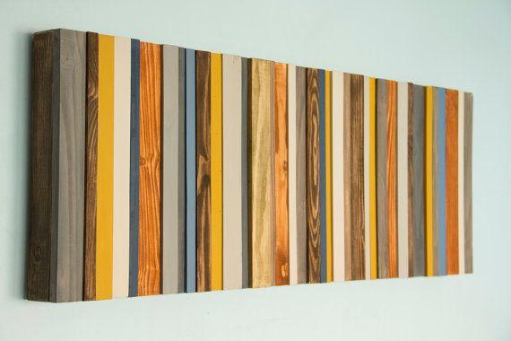 Reclaimed wood art ready to ship modern office decor reclaimed wood wall art sculpture - Wandbilder aus stoff ...