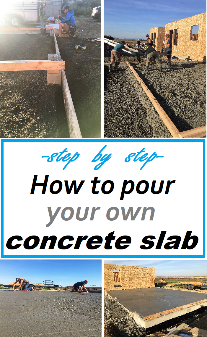 Easy To Follow Step By Step Instructions. How To Pour Your Own Concrete  Slab.