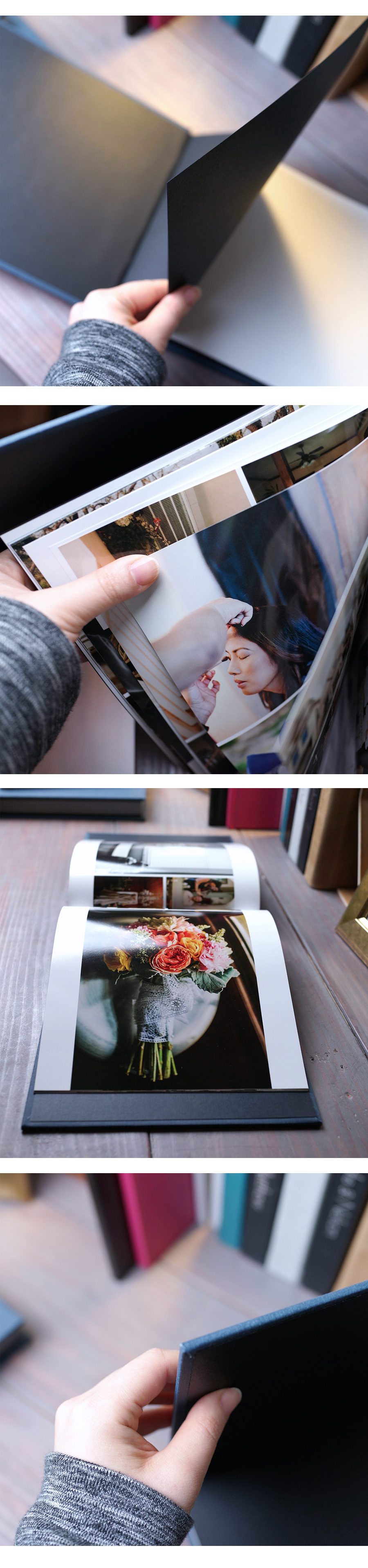 Our Perfect Bound album is space saving and still just as fabulous as a Flushmount! <3