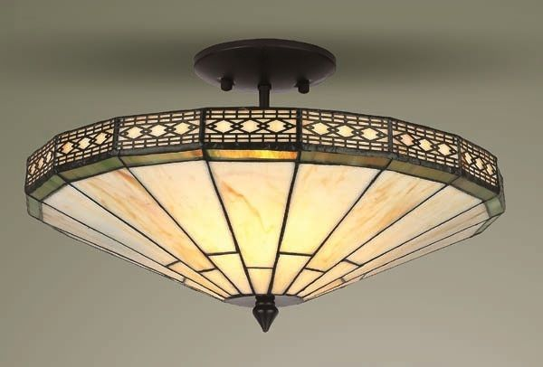 Mission Tiffany Style Gl Semi Flush Ceiling Light Lighting Table Lamps Wall Lights Floor Pendant
