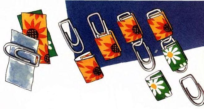 Сделать штору из скрепок и открыток, открытка