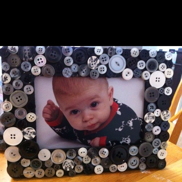 Button frame! Love it!