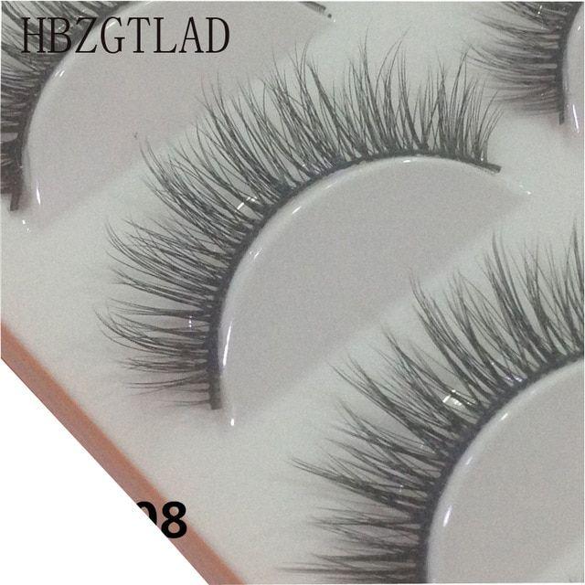 4b31d5a9b29 HBZGTLAD 5 Pairs 3D Handmade Fake Eyelashes Natural Long Thick Daily Makeup  Thick Cross Eyelashes Eye Lashes Review