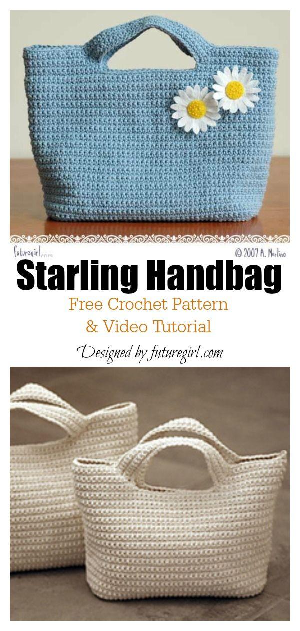 4 Classic Tote Bag Free Crochet Patterns